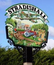Photograph of Stradishall village sign